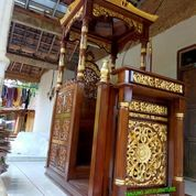 Mimbar Masjid Kubah Podium Ukir Jepara Mewah 828299 (27597311) di Kota Jakarta Barat
