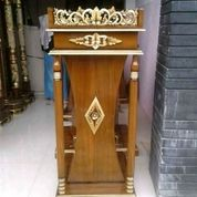 Mimbar Podium Pidato Kayu Jati Berkualitas 52829 (27598207) di Kota Tangerang
