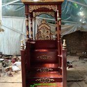 Mimbar Masjid Khutbah Tangga Kayu Jati Berkualitas 1233866 (27598215) di Kota Tangerang