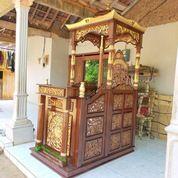 Mimbar Masjid Khutbah Podium Ukir Jepara 52728 (27598219) di Kota Tangerang