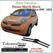 Wiper Frameless Nissan March Pertama ( Micra ) Edisi 1999 2000 2001 2002 2003 2004 (27761959) di Kab. Klaten