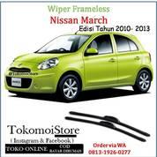 Wiper Frameless Nissan March Edisi 2010 2011 2012 2013 (27763351) di Kab. Klaten