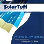 Solartuff ( 1,8 M ) / Atap Transparan / Atap Polycarbonate Corrugated (27801659) di Kab. Sidoarjo