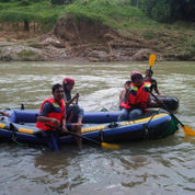 Perahu Karet merk INTEX SEAHAWK Kapasitas 4 orang