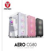 CASSING CPU Fantech AERO CG 80 BLACK Include 4x RGB Fan (27823891) di Kota Bandung