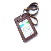 Name Tag Id Kulit Asli Logo BPJS Kesehatan Warna Coklat Garansi 1 Tahun - Id Card Holder (27868119) di Kab. Rembang