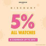 BRUNBRUN PARIS DISCOUNT 5% ALL WATCHES & CASHBACK UP TO 20% (27894095) di Kota Jakarta Selatan