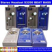 Mega Bass Beats S3200 Earphone Headset (27894191) di Kota Jakarta Timur