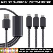 Multifunctional Universal Usb Cable Quick Charger And Data 3 In 1 (27894959) di Kota Jakarta Timur