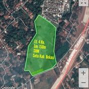 Tanah Zona Perumahan 4Ha - Setu Bekasi (27905327) di Kab. Bekasi