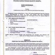 Kepengurusan Surat Izin Layak Operasi Perpanjangan Dan Pembuatan Lift Disnaker (27921755) di Kota Bekasi
