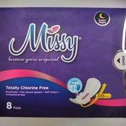 Missy Super Night Pembalut Wanita Malam Hari 8 Pads, 355 Mm. (27933975) di Kota Makassar