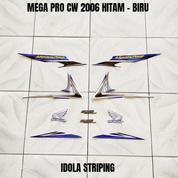 Striping Mega Pro CW 2006 Hitam - Biru (27956811) di Kota Jambi