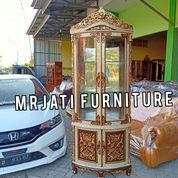 Lemari Sudut + Kaca Warna Bisa Custom (27987647) di Kota Depok