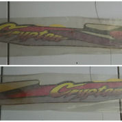 STRIPING BODY YAMAHA CRYPTON ORIGINAL Warna Merah Kualitas ORI 3 Lapis (27990967) di Kota Semarang