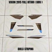 Striping Vixion 2015 Full Hitam ( Biru ) (28004351) di Kota Jambi