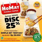HokBen Hemat Setiap Senin Disc. 25% (28041739) di Kota Jakarta Selatan