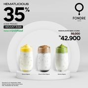 Fondre Cafe Hematlicious Grabfood Promo 35% Off (28120047) di Kota Jakarta Selatan