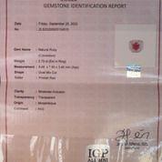 Cincin Perak Istimewa Mata Batu Ruby Mozambique Asli (28133175) di Kota Jakarta Selatan