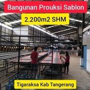 Gudang Tigaraksa Ex Produksi Sablon/ Percetakan Dekat Pemda Kab Tangerang (28145691) di Kab. Tangerang