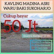 KAVLING FREE PAJAK DAN BALIK NAMA DEKAT STASIUN GAWOK DI BAKI (28146463) di Kab. Sukoharjo