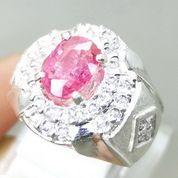 Batu Cincin Asli Pink Safir Natural Ring Perak (28197895) di Kota Surakarta