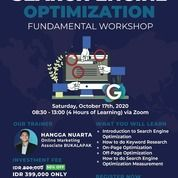 SEO : Search Engine Optimization Fundamental Workshop (28219027) di Kota Jakarta Pusat