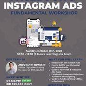 FACEBOOK & INSTAGRAM ADS FUNDAMENTAL WORKSHOP-ONLINE (28252435) di Kota Jakarta Pusat