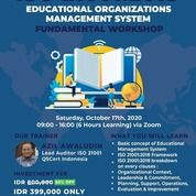 ISO 21001:2018 Educational Management System Fundamental Workshop - Online (28295311) di Kota Jakarta Pusat