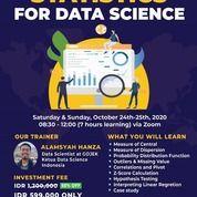STATISTICS FOR DATA SCIENCE WORKSHOP - ONLINE (28295459) di Kota Jakarta Pusat