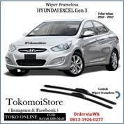 Wiper Frameless Hyundai EXCEL Gen 3 2012 2013 2014 2015 2016 2017 (28300459) di Kab. Klaten