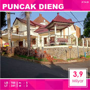 Rumah 2 Lantai Luas 341 Di Puncak Dieng Kota Malang _ 114.20 (28305295) di Kota Malang