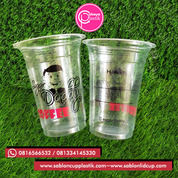 Sablon 2 Warna Cup Gelas Plastik 14 Oz 6 Gram Tanpa Tutup (28318851) di Kota Malang