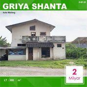 Tanah + Rumah Luas 300 Di Griya Shanta Sukarno Hatta Kota Malang _ 481.20 (28342727) di Kota Malang