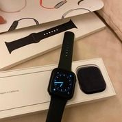 Apple Watch Series 5 44 Mm Space Grey Sports Band Black (28362187) di Kota Jakarta Selatan
