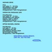 Lowongan Staff Admin Gudang Lulusan Sma/Smk Daerah JAKARTA 2020 (28400163) di Kota Jakarta Barat