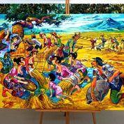 Lukisan Akrilik Canvas Damar Tabur Tuai Original Master Gunawan (28429691) di Kab. Badung