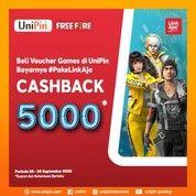 UniPin Cashback Saldo Bonus 5000* Ayo beli voucher games pake LinkAja! (28440719) di Kota Jakarta Pusat
