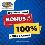 Funworld Bonus Up To 100% (28468663) di Kota Jakarta Selatan