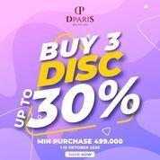DPARIS Promo Buy 3 Disc Up To 30% (28503119) di Kota Jakarta Selatan