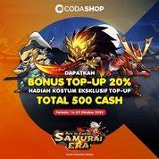 Codashop Dapatkan BONUS 20% CASH Samurai Era, serta Hadiah eksklusif untuk pembelian min. 500 Cash* (28566427) di Kota Jakarta Selatan