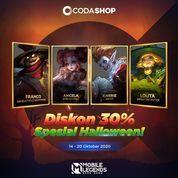 Codashop Dapatkan DISKON 30% Spesial Halloween untuk Skin-Skin Halloween MLBB! (28566451) di Kota Jakarta Selatan