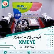 Lengkap Paket CCTV 4Camera 2MP Bergaransi (28600747) di Kota Medan