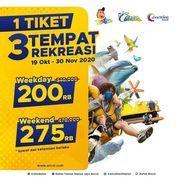 Ancol Promo 1 Tiket 3 Tempat Rekreasi (28606715) di Kota Jakarta Selatan