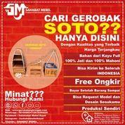 Gerobak Soto Pikul Rak Tingkat / Gerobak Soto Pikul Rak Tingkat Kayu Jati (28610091) di Kab. Lingga