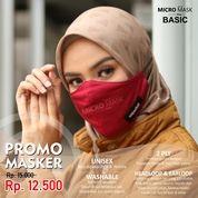 Hijacket Masker Kain Polos Pria Wanita Non Medis Dengan Tali Karet Elastis String & Stopper (28619015) di Kota Surakarta