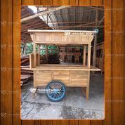 Gerobak Angkringan Sederhana / Rombong Angkringan Tanpa Lubang Kayu Jati (28620599) di Kab. Empat Lawang