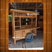 Gerobak Usaha / Rombong Bakso Kayu Jati Free Ongkir (28620807) di Kab. Kapuas Hulu