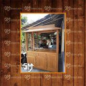 Gerobak Minuman / Gerobak BOOTH 3 Kayu Mahoni Dan Jati Free Ongkir (28622123) di Kab. Mamuju Tengah