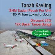 Tanah Perumahan Area Bandara YIA : 12 X Angsur Non Bunga (28636327) di Kota Yogyakarta
